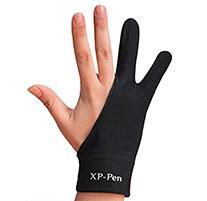 Zeichnen schwarzer Handschuh