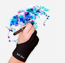 Zeichnen mit Handschuh